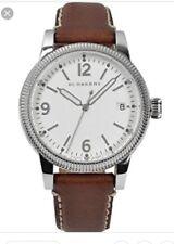 BURBERRY White Dial Tan Leather Ladies Watch New BU7823 $495 Women Round