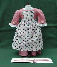 AMERICAN GIRL Retired FELICITY PINK SPRING BIRTHDAY GOWN w PINNER APRON REPRO