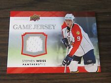 2007-08 Upper Deck Sephen Weiss Jersey Card Panthers  & Detroit Red Wings (B7)