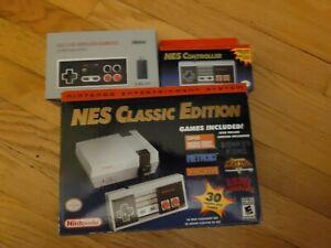 Nintendo NES Classic unmodded w/ extra controller & 8BitDo wireless controller
