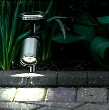 Solar Power Outdoor LED Stainless Steel Stake Spot Light | Garden Party Path