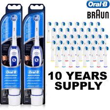 2 X Braun Advance Oral B Electric Toothbrush + 42 Toothbrush Heads + Batteries