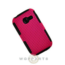 Samsung R480 Freeform 5 Hybrid Mesh Case Hot Pink/Black Shell Protector Shield
