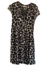 Designer Size 16 Fenn Wright Manson Silk Midi Dress Flattering Cut Quality Item