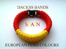 Spain National Flag 550 Paracord Wristband Bracelets European Union World Cup