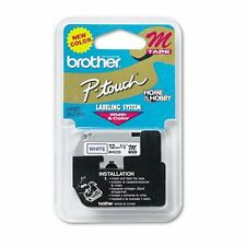 Brother MK233 M 1/2 12mm blue on white Ptouch tape M233 233 PT70BM PT65 PT55BM