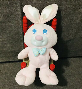 Fisher Price Pink White Thermal Cozees 1994 Bunny Rabbit Vintage Plush Baby Toy