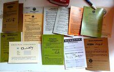 12x ABe Betriebserlaubnis Zündapp NSU puch sachs Victoria Solex Vespa ua Papiere
