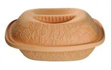 Römertopf 2,5 kg, 4 Personen Terrakotta Bräter Auflaufform Keramik glasiert