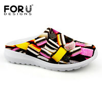Candy Mesh Slippers Flats Slip On Casual Beach Shoes Women's Girls Multi color