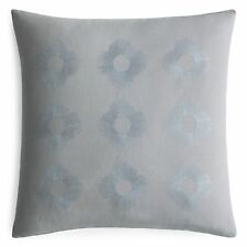 "Barbara Barry Capri Bloom Cotton/Flax 18"" Square Decorative Pillow Shale"