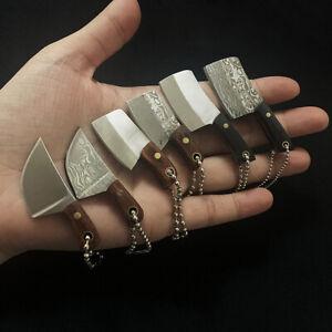 Mini Pocket Knife Keychain Pendant Keyrings Unpack Box Kitchen Cleaver Portable