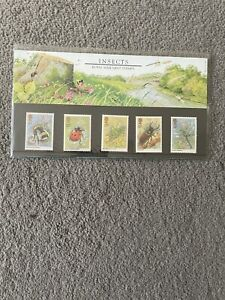 Royal Mail Mint Stamps Presentation Pack Insects 1985