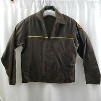 Yellow Freight System Jacket Brown Windbreaker Trucking Vintage USA Mens Large