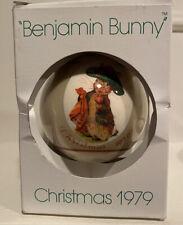 Schmid Christmas Ornament Beatrix Potter Tale Of Benjamin Bunny (w/Box), 1979