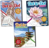 Dot-to-Dot Therapy Mindfulness and amazing 3 Books Collection Pack Set