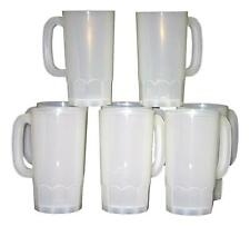6-32 oz Large Clear Beer Mugs Made in the USA Lead Free Food Safe No BPA^