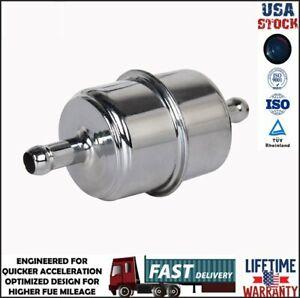"Fuel Filter 3/8"" Hose Carburetor Inline for Ford F150 Chevy Dodge Jeep Wrangler"