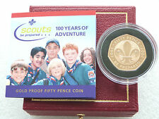 2007 Royal Mint Scout Movement Centenary 50p Fifty Pence Gold Proof Coin Box Coa