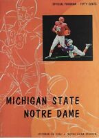 1956 Notre Dame vs Michigan State Complete Vintage Football Program *Irish*