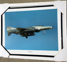 McD F-4G PHANTOM WILD WEASEL USAF ANG AIR-TO-AIR COLOR PHOTO FRAMED 16x20 INCHES
