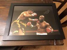 Evander Holyfield Signed Framed 16x20 Steiner COA