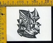 Ex Libris Originale Alexandro Radulescu c 106 O Marik