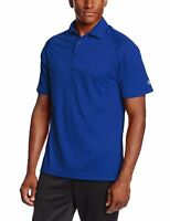 Champion Men's Double Dry Ultimate Polo Royal Blue Short Sleeve Golf Tee Small