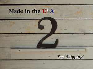 """8"""" Metal Number, Address Plaque-Mailbox/Apartment Numbers-Business Sign-F1001"""