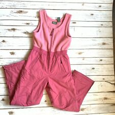 LL Bean Youth Girls 16 XL Bib Overall Snow Pants Pink One Piece Women Small