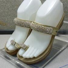IZABEL GOLD LMPFSAJ50A Women's Shoes Size 5 Eur 35 Leather Sandals Mephisto