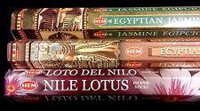 EGYPTIAN Musk Jasmine Nile Lotus 60 HEM Incense Sticks 3 Scent Sampler Gift Set