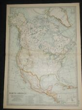 Vintage Map of North America (c1902) United States, Canada, Mexico (Century Co.)