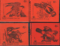 UNITED KINGDOM 1968 - 70 BIRD WITH GPO EMBLEM BOOKLET'S COMPLETE