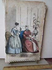 Vintage Print,TWO LADIES,Ladies Repository,1857