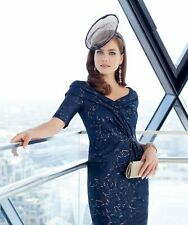 Ispirato Mother of the Bride Dress Navy Blue Truffle Gold Size 16 BNWT £425