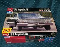 Vintage AMT 1963 Chevy Impala SS Model Car Kit 1:25 Scale Chevrolet NEW Alt