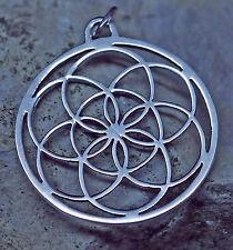 Same des Lebens  Anhänger 925er Sterling Silber Blume des Lebens 7.Tag