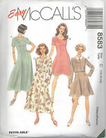 McCall's 8583  Misses' Unlined Jacket and Dress in Two Lengths Sewing Pattern