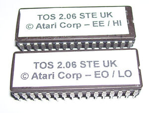 ATARI 520 1040 STE MEGA STE TOS 2.06 ROMS Computer Operating System upgrade MIDI