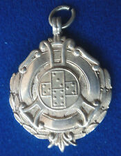 HEAVY Sterling Silver Fob Medal - Domino /Dominoes 1954 not engraved - Fattorini