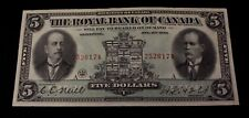 1913 $5  The Royale Bank Of Canada 10-12-04 Typed Neill