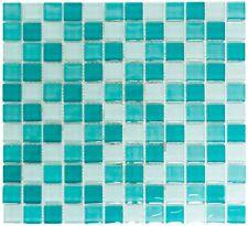 Mosaïque carreau translucide verre vert cuisine toilette 72-0602_f | 10 plaques