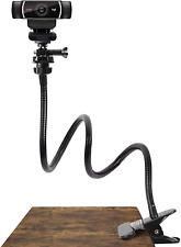 Webcam Stand For Logitech Camera Desk Clamp Gooseneck Holder Flexible Black 25in