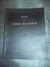 DALLOZ Codes d'audience suivis des lois, ordonnances et décrets 1932 MAME TOURS