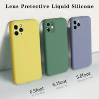 For iPhone 11 Pro Luxury Liquid Silicone Soft Cover Case Camera Protection Case