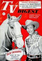 TV Guide 1952 Pre National Roy Rogers Trigger Dale Evans TV Digest Magazine VTG