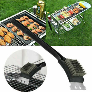 BBQ Barbecue Oven Grill Kitchen Metal Cleaning Brush Scraper Remover Cleaner CC