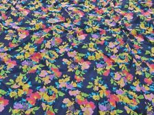 VISCOSE MORACAINE CREPE-ALLOVER BRIGHT FLORAL -DRESS FABRIC-1.2 METRES