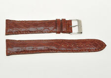 Breitling, original brown crocodile strap 22mm (18mm buckle) new
